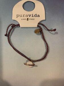 NEW Pura Vida Opal Saturn Rose Gold Purple