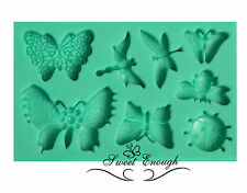 Butterfly insects Lady bird Silicone Mould Mold  Fimo Sugarcraft Cupcake Topper