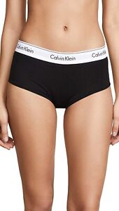 Calvin Klein 174723 Womens Modern Cotton Boy Shorts Underwear Black Size Large