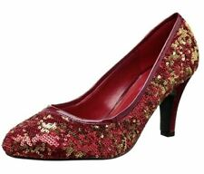 Bordello by Pleaser Women's Ravish-08Sq Pump Red Gold Sequins Size 7