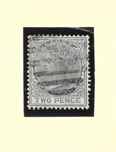NIGERIA:  LAGOS 1884 2d grey wmk CA very fine used SG 23