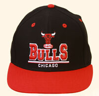 Chicago Bulls Windy City NBA Snapback Hat, Black Red + GT Sweat Wristband