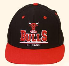 Chicago Bulls Windy City NBA Snapback Hat, Black Red + GT Sweat Wristband