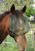 AS Fliegenmaske, Fliegenschutzhaube ohne Ohren, grün, S Pony (ca. 115-135 cm)