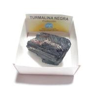 Turmalina Negra Piedra En Bruto Natural Mediana en Cajita de Colección