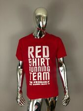 New Anvil Red Shirt Running Team Graphic T-Shirt Size L