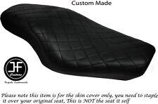 Diamond Negro Puntada Custom Para Harley Sportster 883 1200 Vinilo Doble Cubierta de asiento