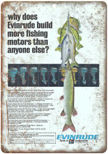 """Evinrude Outboard Motors Vintage Boating Ad10"""" x 7"""" Reproduction Metal Sign"""