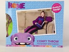"Dreamworks Home Comfy Throw Fleece Blanket with Sleeves 48"" x 48"" New"