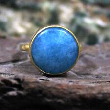 Roman Art Handmade Aquamarine Ring 925k Sterling Silver Turkish Designer