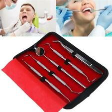 5PCS Case Stainless Steel Professional Home Oral Dental Hygeine Cleaning Tool LC