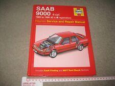 Haynes Manual Saab 9000 inc Turbo 1985 to 1995 4-cyl Petrol