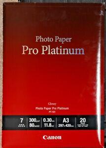 Canon PT-101 DINA3 20 Blatt Fotopapier Pro Platinum 300 g/m² für Tintendrucker
