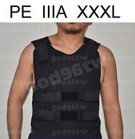 New PE Bullet Proof Vest/Jacket Body Armor NIJ Level IIIA 3A 38 Layers 3XL