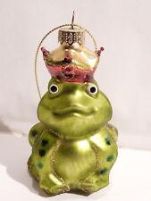 Objet de Collection la reine des grenouille en verre à suspendre