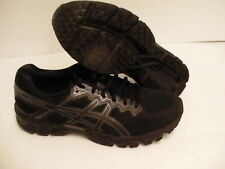 Asics men's gel superion running shoes black dark grey size 11 us