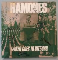 THE RAMONES - AUTOGRAPH BY ALL 8 SIGNED pleasant dreams  RpdLP