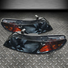 FOR 2006-2011 HONDA CIVIC FD/FA PAIR SMOKED HOUSING AMBER SIDE HEADLIGHT/LAMP