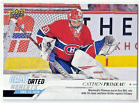 2019-20 Upper Deck Game Dated Moments Cayden Primeau #27 Rookie