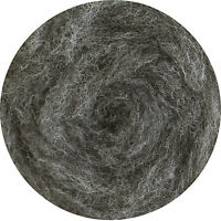 Carded Wool Felting Spinning Craft Hand Spin Wet Needle Felt - Mid Grey (mix)