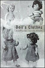 "Knitting Pattern Dolls Clothes • Dress Coat Hat Sweater Skirt Vest Pants 10-16"""