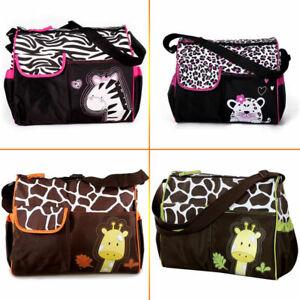 Nappy Bag with funky designs Giraffe or Zebra