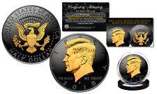 2018 Black RUTHENIUM JFK Half Dollar U.S. Coin 2-SIDED 24K Gold (P-MINT)