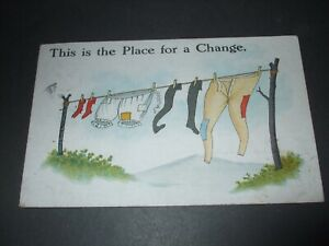 1919 NATIONAL SERIES COMIC WASHING LINE KNICKERS STOCKINGS PLACE FOR A CHANGE