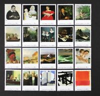 US 1998 #3236 Four Centuries, American Art Complete set of 20 in Singles Mint NH