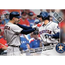 2017 TOPPS NOW #220 HOUSTON ASTROS 10TH STRAIGHT WIN FOLLOWS 3 SWEEP IN A ROW