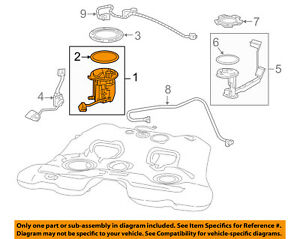 Chevrolet GM OEM 14-17 Caprice-Fuel Pump Assembly 19303293