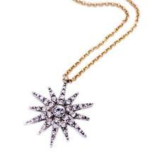 STAR SUN MOON Silver Gold Crystal Rhinestone Pendant Choker Chain Charm Necklace