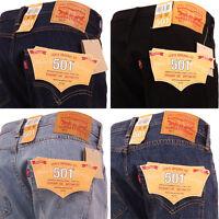Levi 501 Jeans Original Straight Leg Fit Mens Denim Waist 28 30 32 34 36 38 40