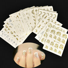 30x Nail Stickers Gold Silver Butterfly Cat Nail Art Manicure Transfer Decals