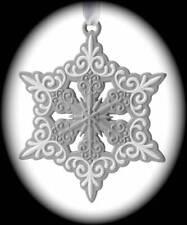 Wedgwood Christmas Grey Pierced Snowflake Ornament/40009022/New in Box