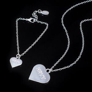 HRVY Heart Necklace & Bracelet Set