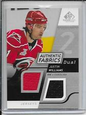 08-09 SP Game Used Justin Williams Authentic Fabrics Dual Jersey