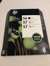 Genuine HP 56 57 C8800BN Combo Pack Ink Cartridges NEW SEALED OEM Exp July 2013