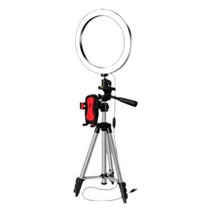 LED Selfie Ring Light with Phone Holder Photography Dimmable Youtube Video A2D3