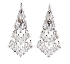Orecchini a Clip-Lusso orecchino d'argento con zirconi pietre-NAKI