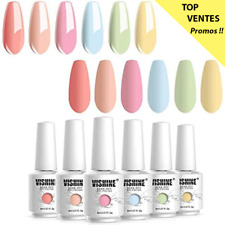 Vishine Vernis Semi Permanent UV Gel Lot 6 Vernis à Ongles Gel Soak Off Manucure