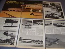 "VINTAGE...CF-100 ""BLACK KNIGHTS"" 414 SQUAD..HISTORY/PHOTOS/DETAILS..RARE! (832G)"