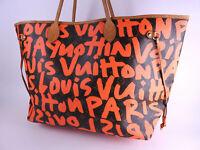Auth LOUIS VUITTON Monogram Graffiti Neverfull GM Shoulder Tote Bag M93702 A9759