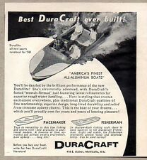 1956 Print Ad Duraflite All Aluminum Boats DuraCraft Monticello,AK
