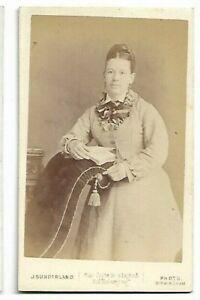Cdv- Femme En Jour Robe, Photo Par J Sunderland, Birmingham C58