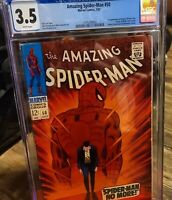 Amazing Spiderman #50 CGC 3.5 1st Apperance Kingpin Spiderman 1967 WHITE PAGES