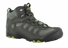 Hi-Tec Penrith Mid Mens Suede Waterproof Comfy Trail Hiking BOOTS Charcoal Grey UK 7