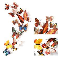 24x 3D Butterfly Sticker Art Design Vivid Decal Wall Stickers Home Decor Room