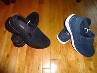 Skechers Air-Cooled Memory Foam Men's Slip On Shoes Sneakers Loafers Black Blue