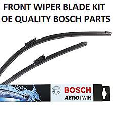 Dacia Sandero Front Windscreen Wiper Blade Set 2015 Onwards BOSCH AEROTWIN